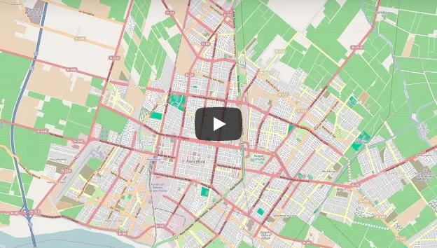 10 años de ediciones en OpenStreetMap,  6 ciudades de Chile 2007 -2017
